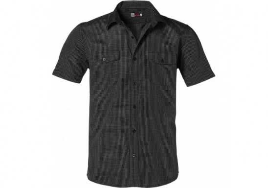 US Basic Huntington Mens Short Sleeve Shirt - Black