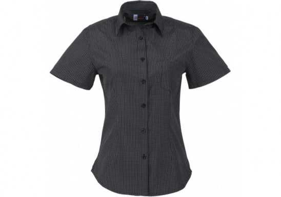 US Basic Huntington Ladies Short Sleeve Shirt - Black