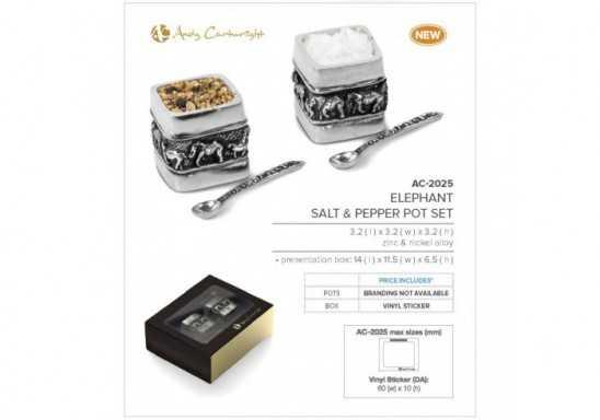 Andy Cartwright Elephant Salt & Pepper Pot Set