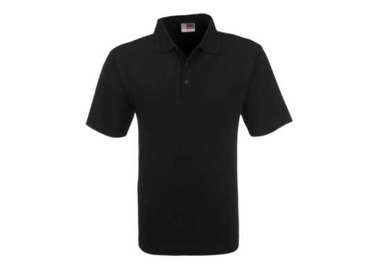 US Basic Mens Cardinal Golf Shirt - Black