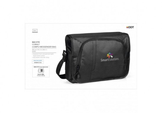 Cobalt Compu-Messenger Bag