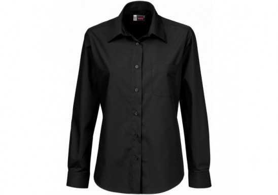 US Basic Washington Ladies Long Sleeve Shirt - Black