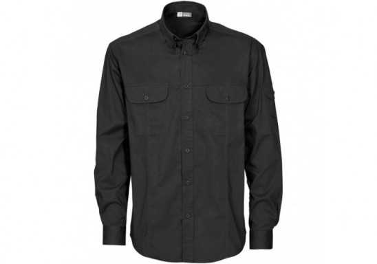 US Basic Phoenix Mens Long Sleeve Shirt - Black
