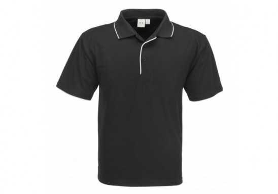 Elite Mens Golf Shirt - Black