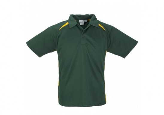 Splice Mens Golf Shirt - Green With Yellow