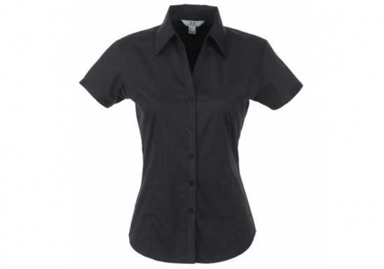Metro Ladies Short Sleeve Shirt - Black
