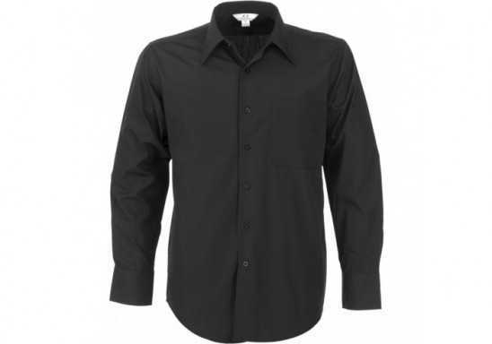 Metro Mens Long Sleeve Shirt - Black
