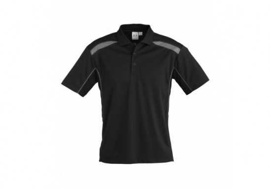United Mens Golf Shirt - Black
