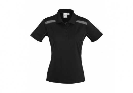 United Ladies Golf Shirt - Black